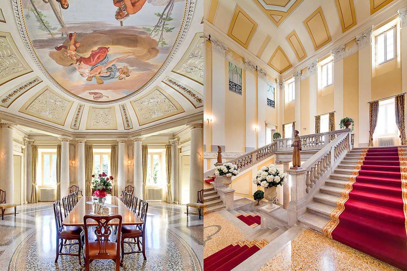 Deluxe private villas for your wedding in lake como for Villa interiors