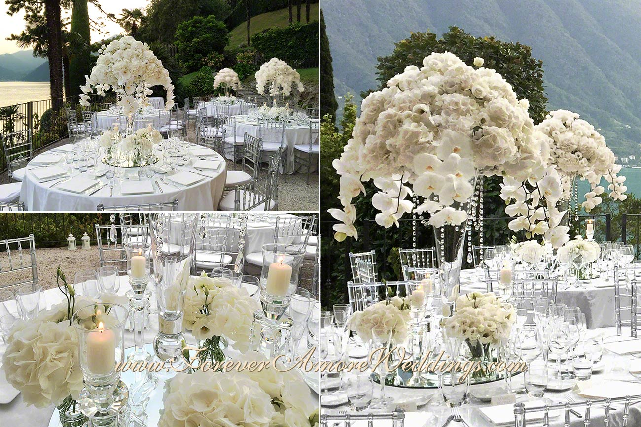 villa balbianello total white wedding decor