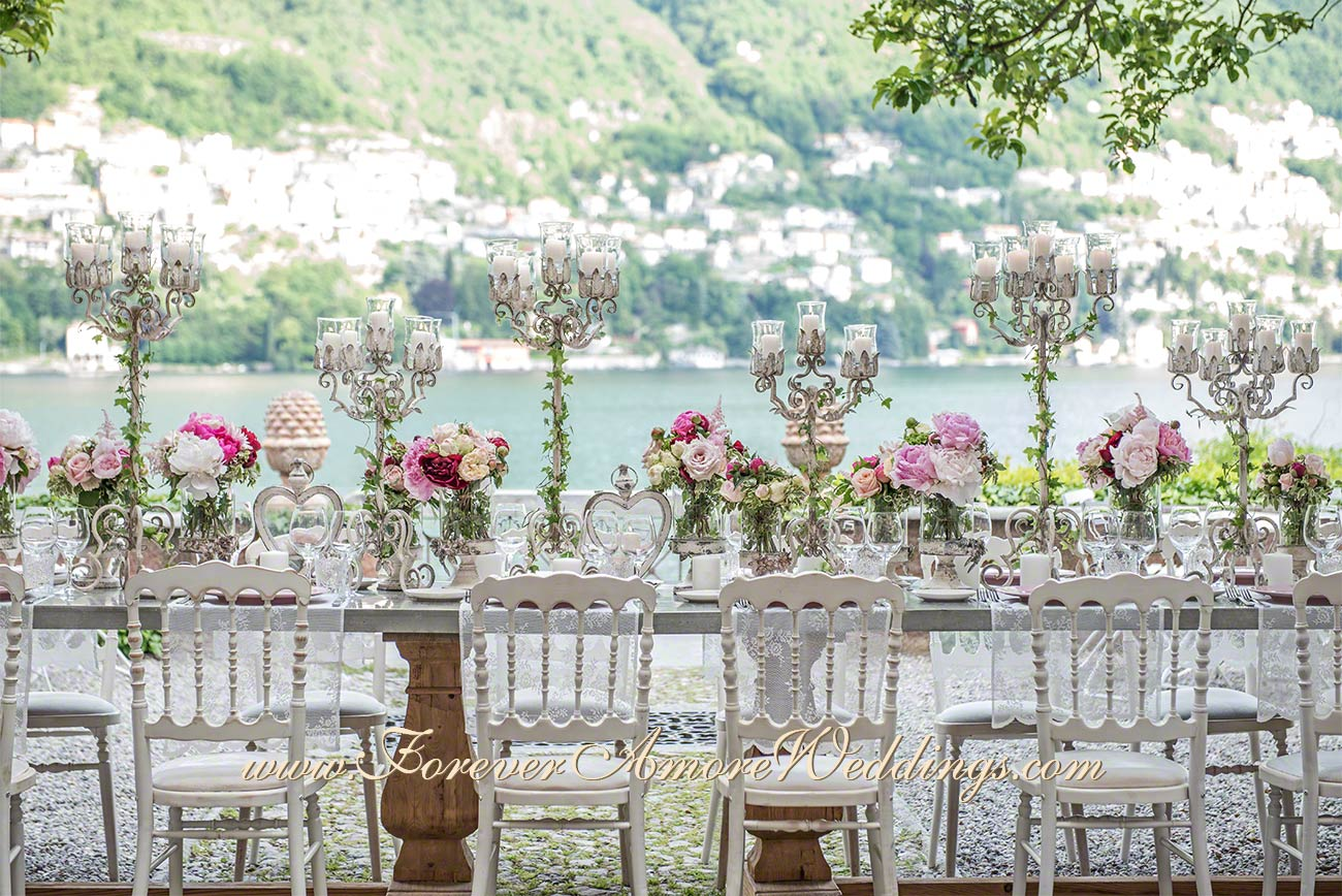 romantic lake como wedding imperial table