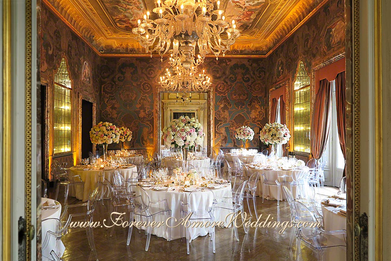 high end wedding reception in lake como villa erba