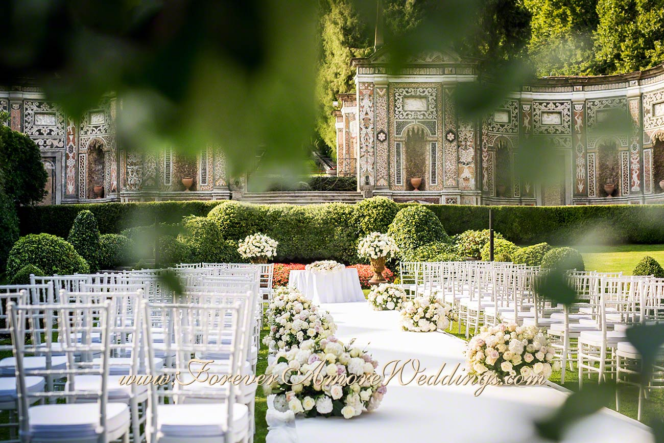 wedding ceremony villa d'este lake como