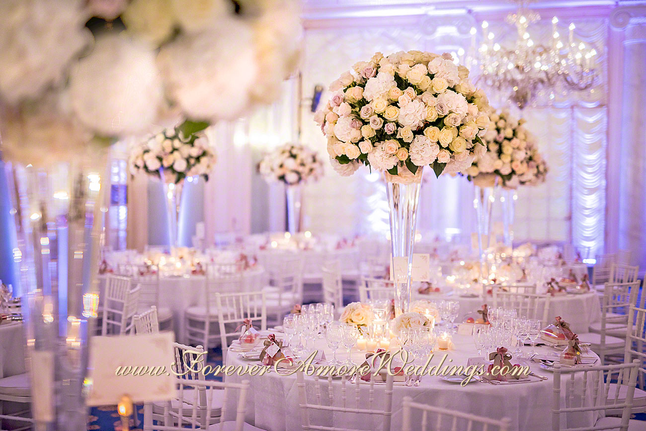 deluxe wedding reception flowers at villa d'este