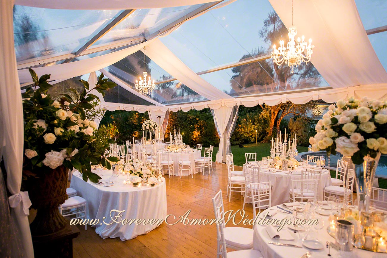 white wedding reception at villa giuseppina lake como