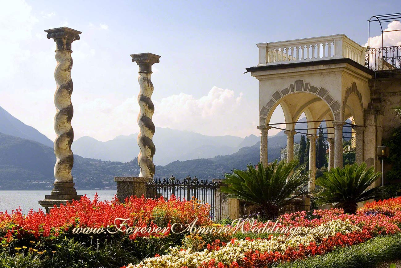 beautiful botanical gardens of Villa Monastero