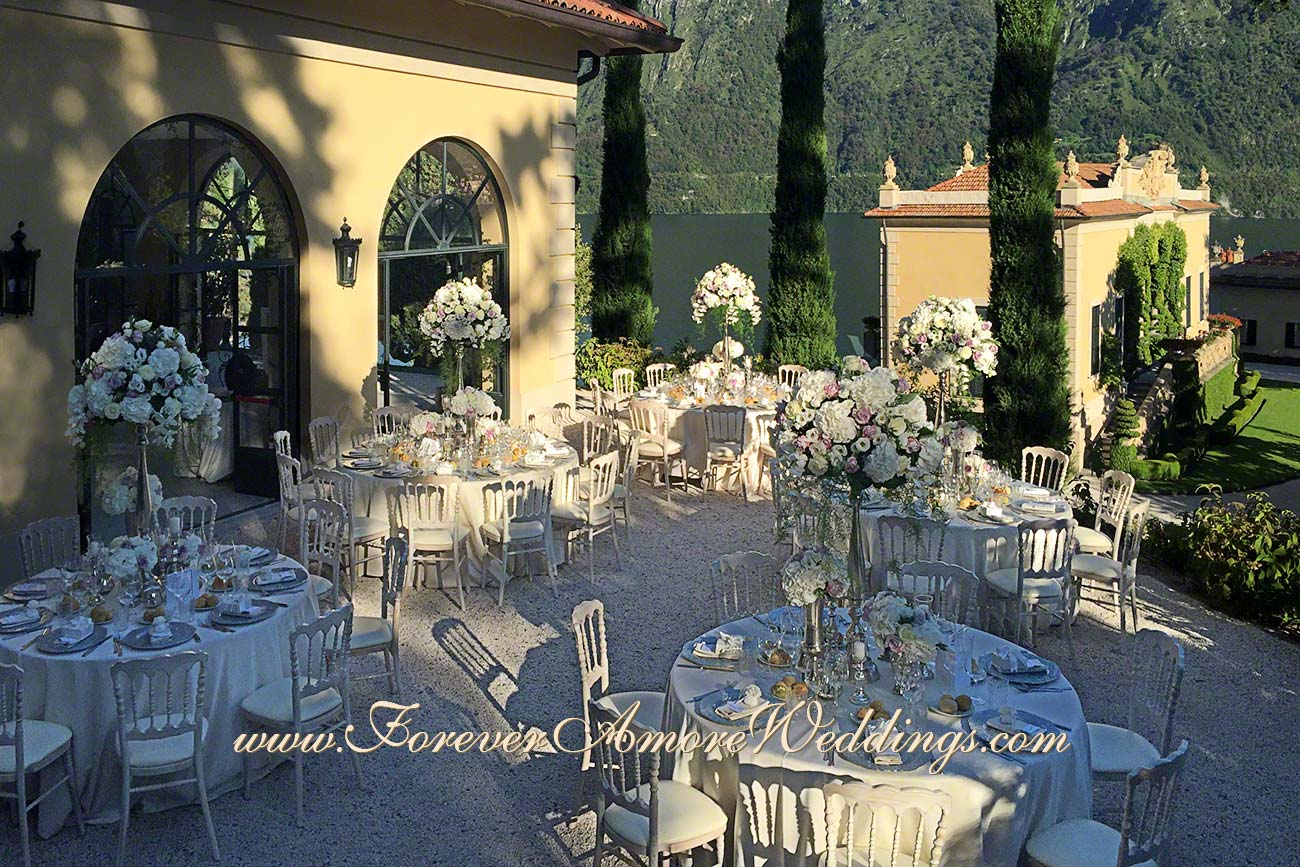 reception at villa Balbianello overview loggia Segre