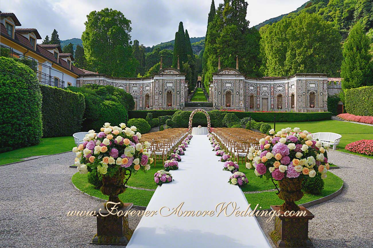 wedding in the mosaic garden of Villa D'Este