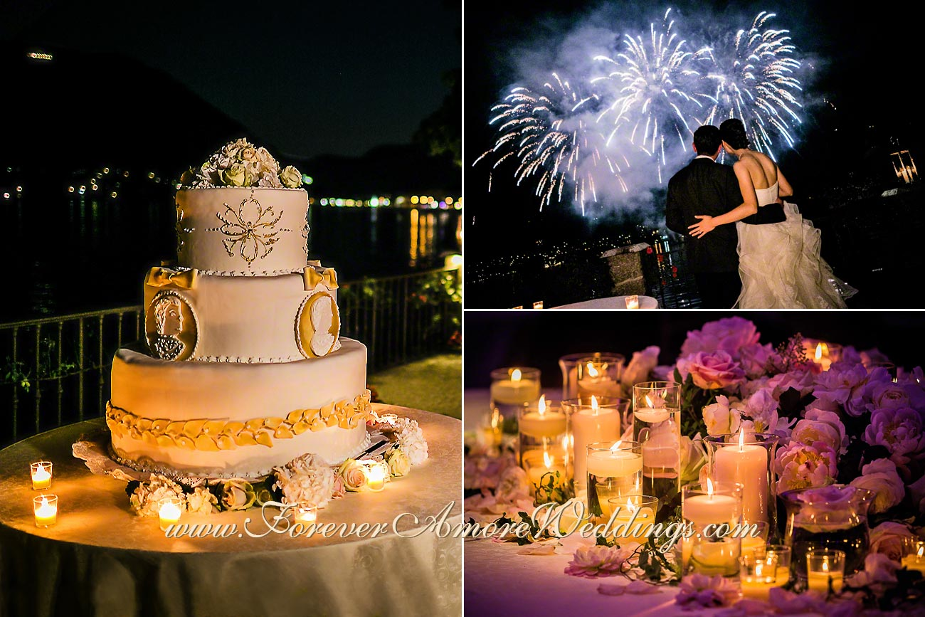 giant wedding cake at Villa D'Este lake Como