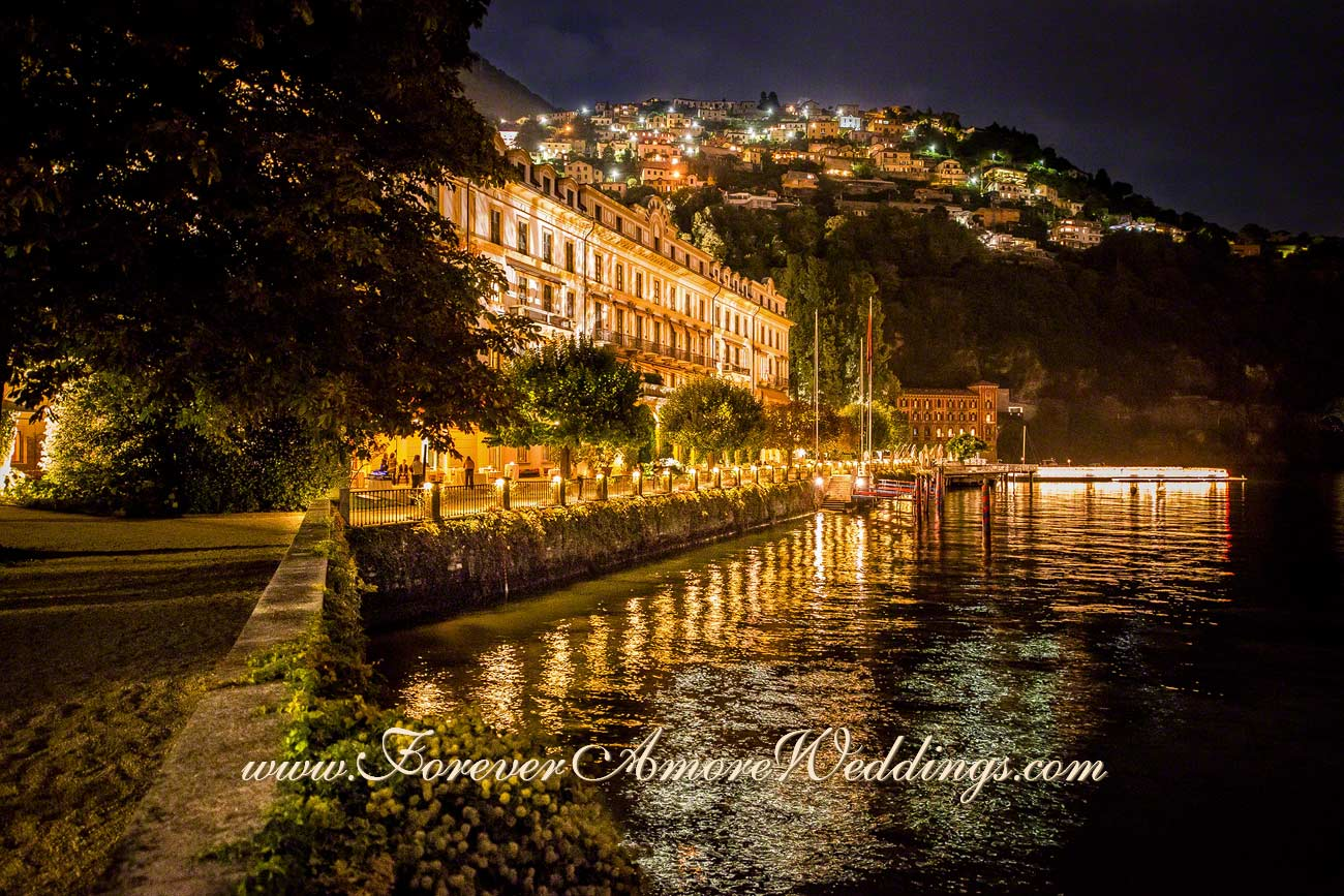night view of Villa D'Este