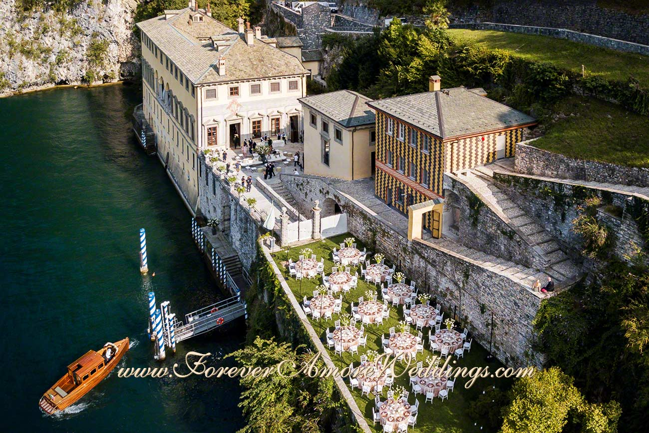 luxury wedding at Villa Pliniana lake Como